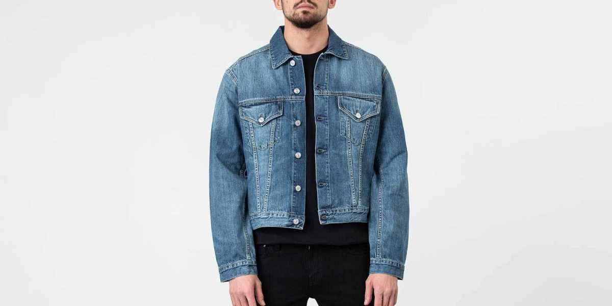 Our Legacy Gift From Mom Wash Mudride Jacket Denim Blue USA - GOOFASH - Mens JACKETS
