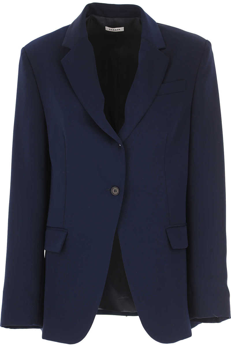 P.A.R.O.S.H. Blazer for Women Dark Midnight Blue DK - GOOFASH - Womens BLAZER