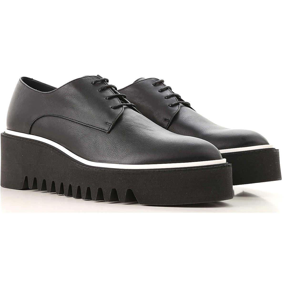 Paloma Barcelo Brogues Oxford Shoes On Sale Black DK - GOOFASH - Womens LEATHER SHOES