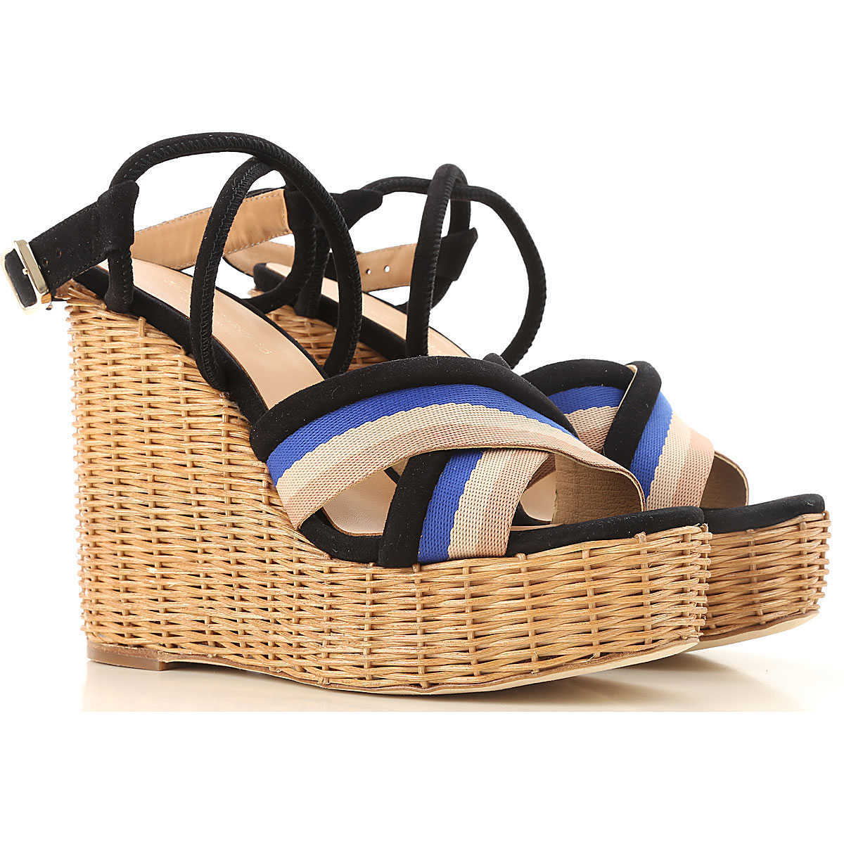 Paloma Barcelo Wedges for Women On Sale Black DK - GOOFASH - Womens HOUSE SHOES