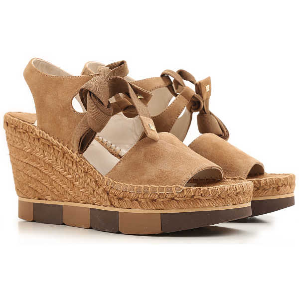 Paloma Barcelo Wedges for Women On Sale Taupe DK - GOOFASH - Womens HOUSE SHOES