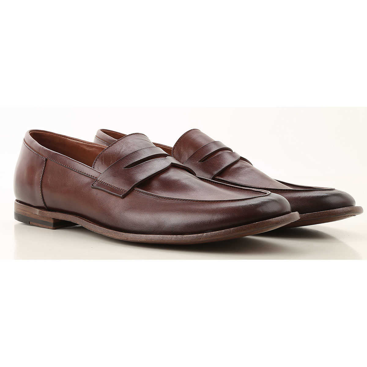 Pantanetti Loafers for Men On Sale Chocolate Brown DK - GOOFASH - Mens TROUSERS