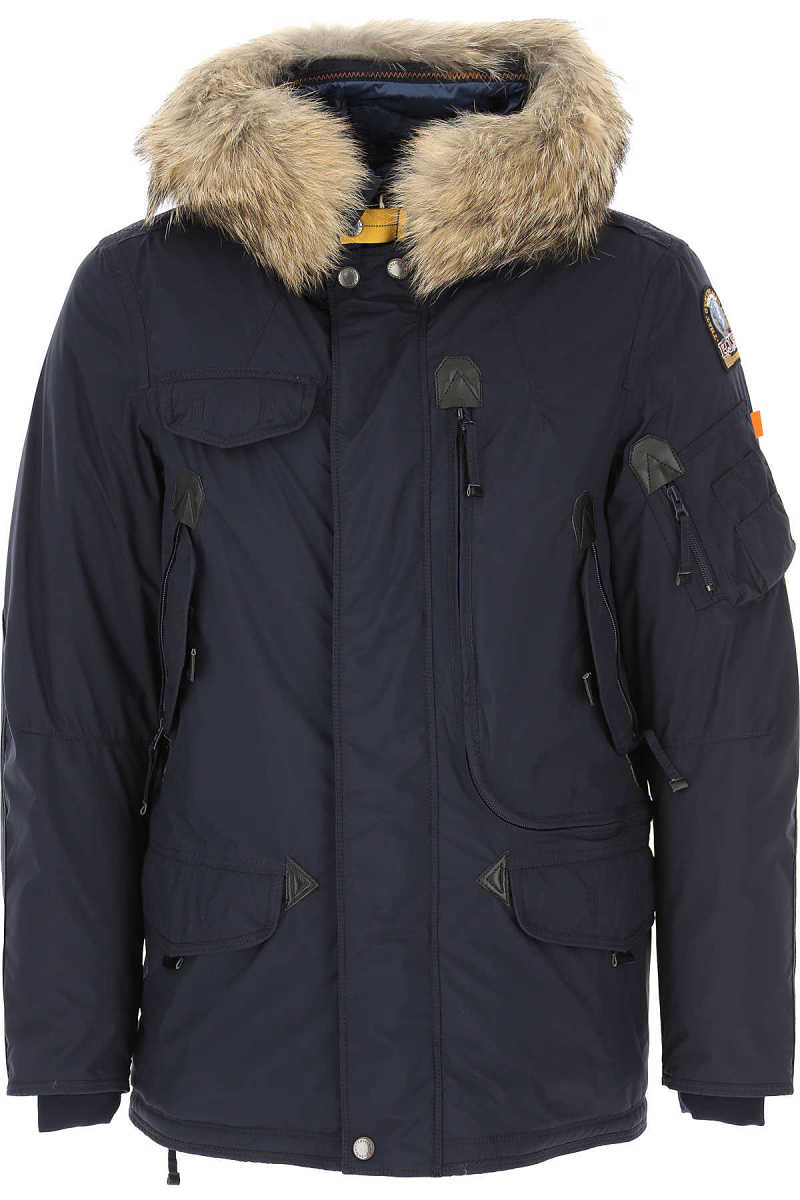 Parajumpers Men's Coat Navy Blue DK - GOOFASH - Mens COATS