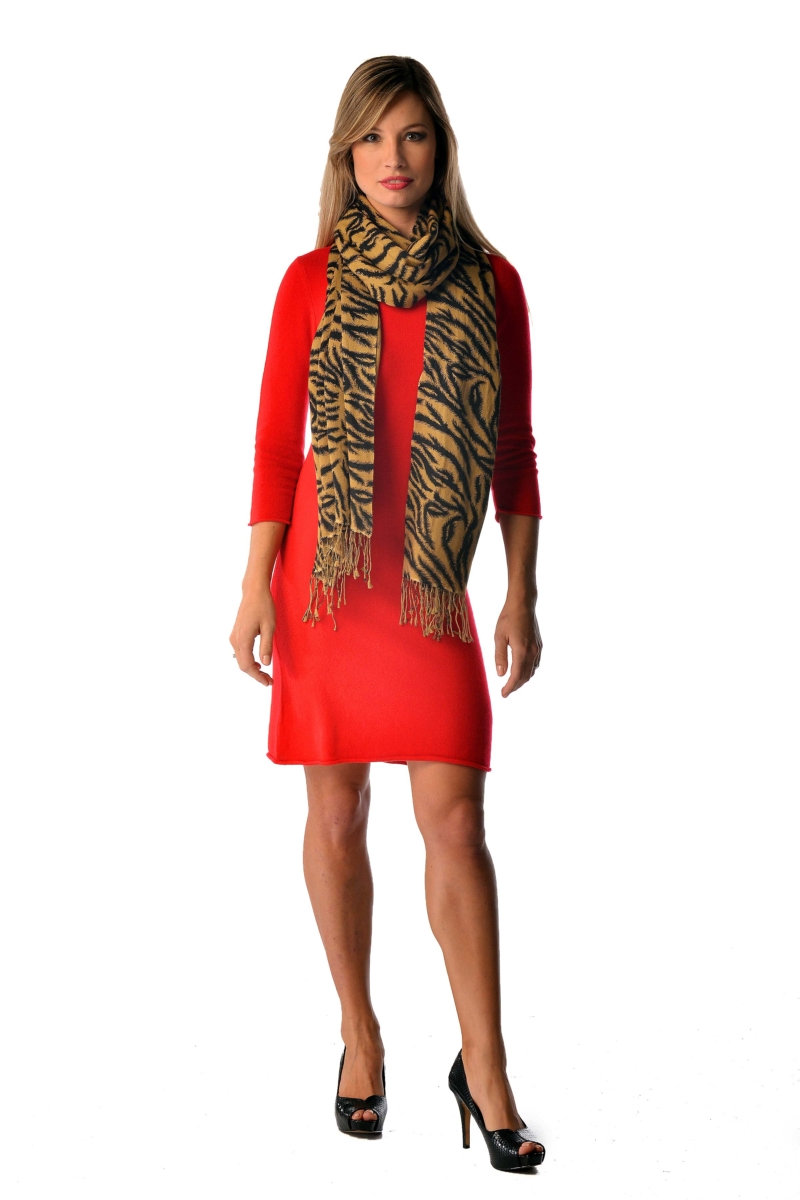 Pashmina Wrap in Animal Prints - Tiger Brown USA - GOOFASH - Womens SCARFS