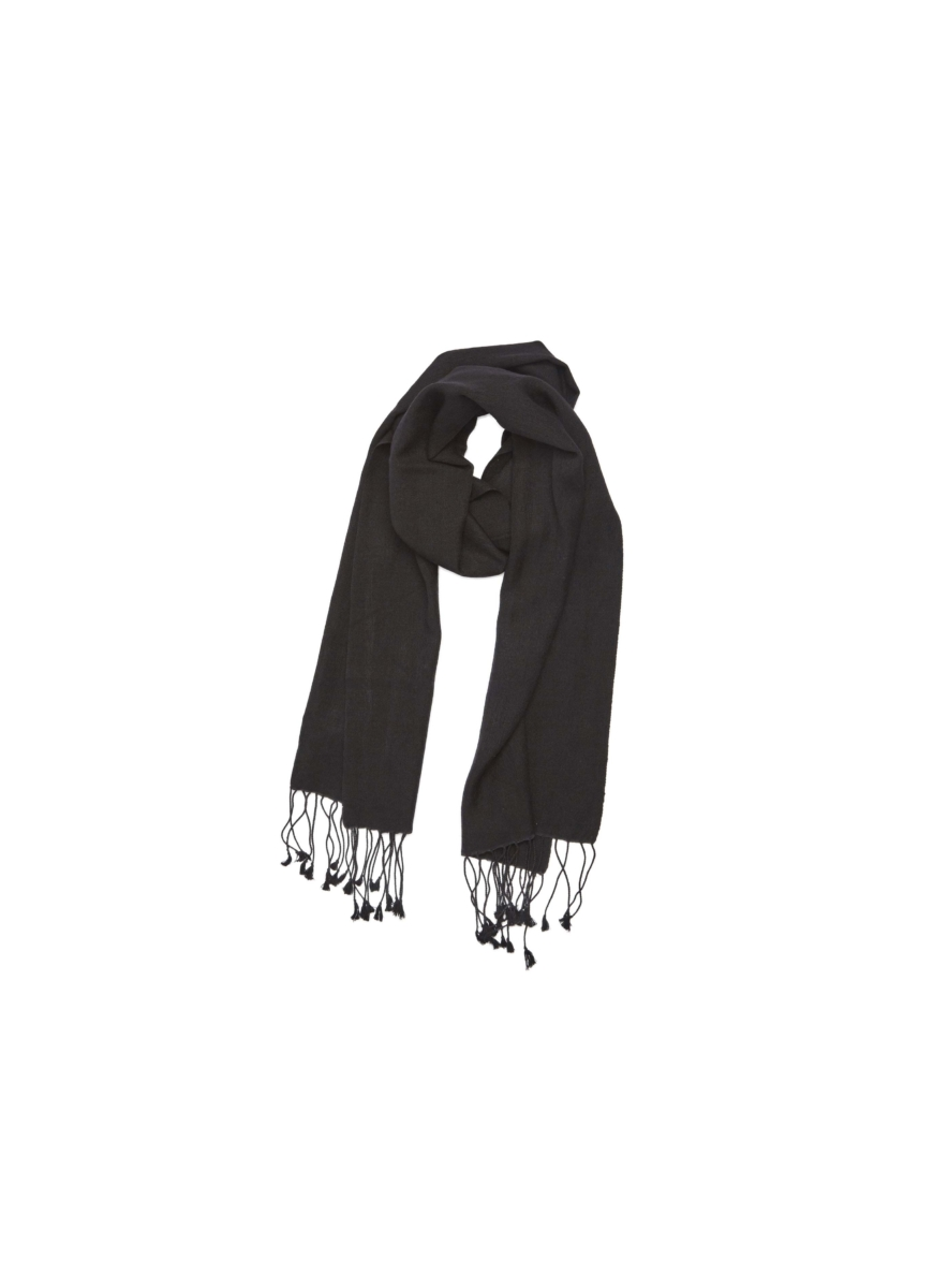 Pashmina and Silk Scarf Black USA - GOOFASH - Womens SCARFS
