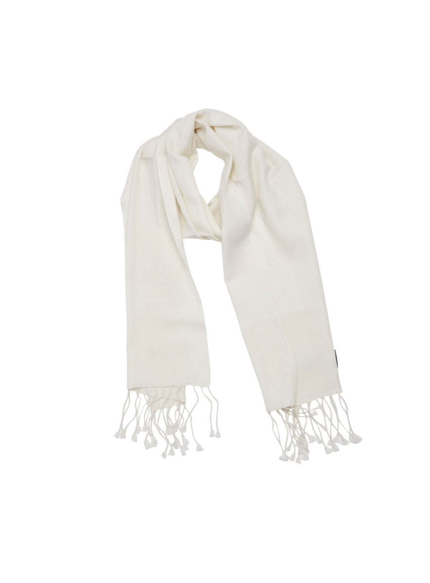 Pashmina and Silk Scarf White USA - GOOFASH - Womens SCARFS
