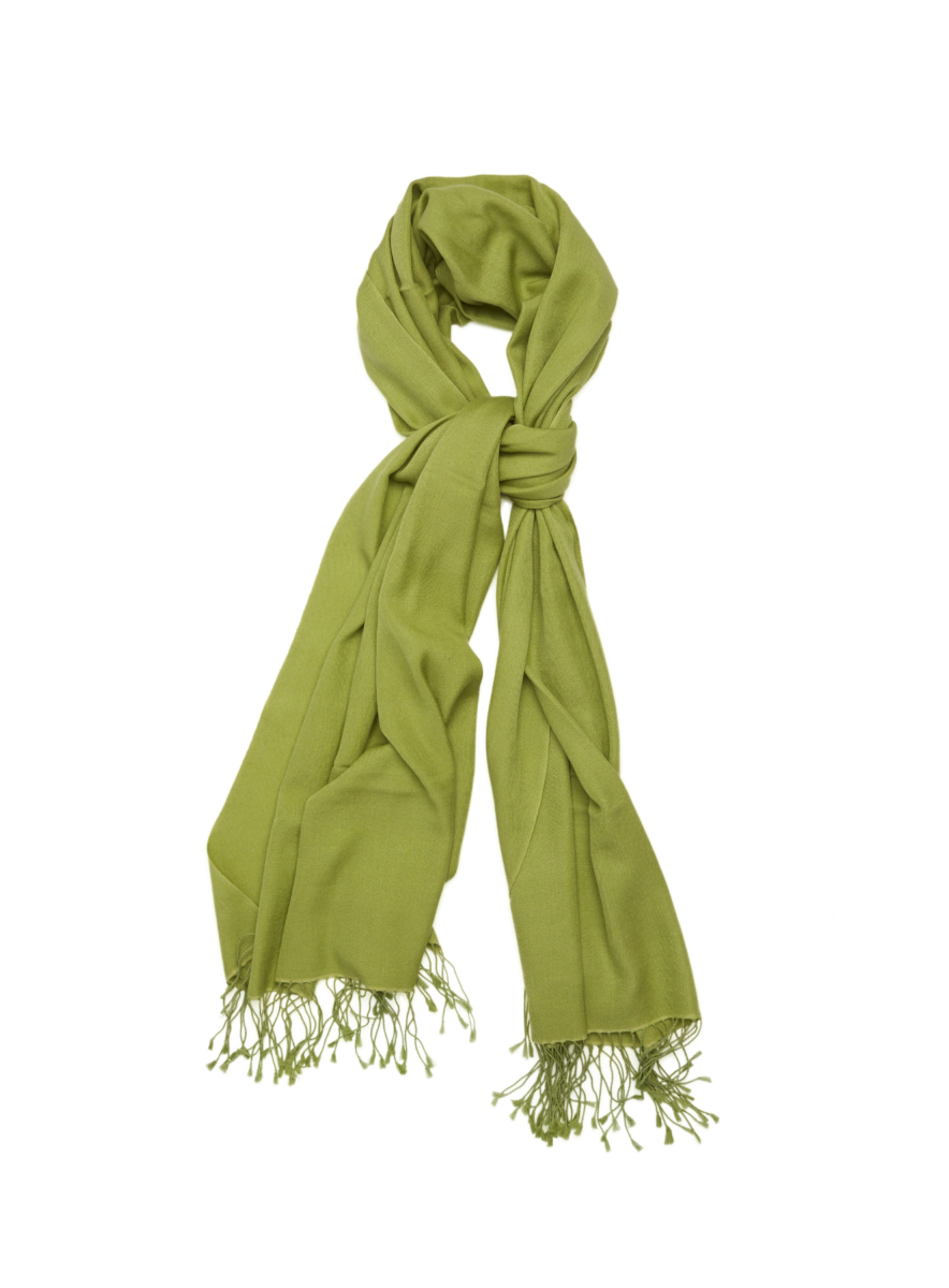 Pashmina and Silk Wrap Green USA - GOOFASH - Womens SCARFS