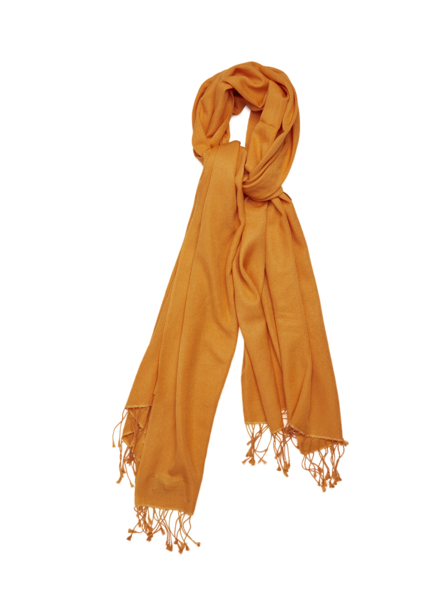 Pashmina and Silk Wrap Orange USA - GOOFASH - Womens SCARFS