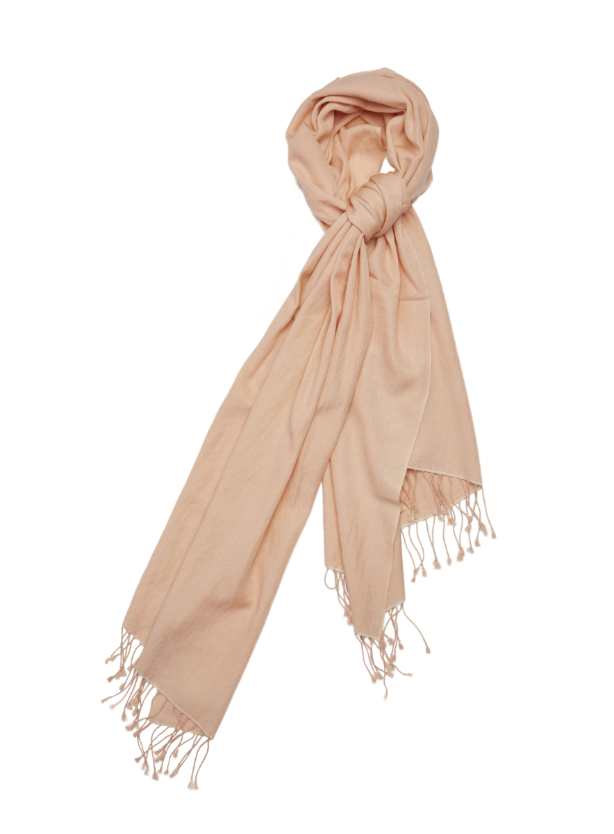 Pashmina and Silk Wrap Vanilla USA - GOOFASH - Womens SCARFS