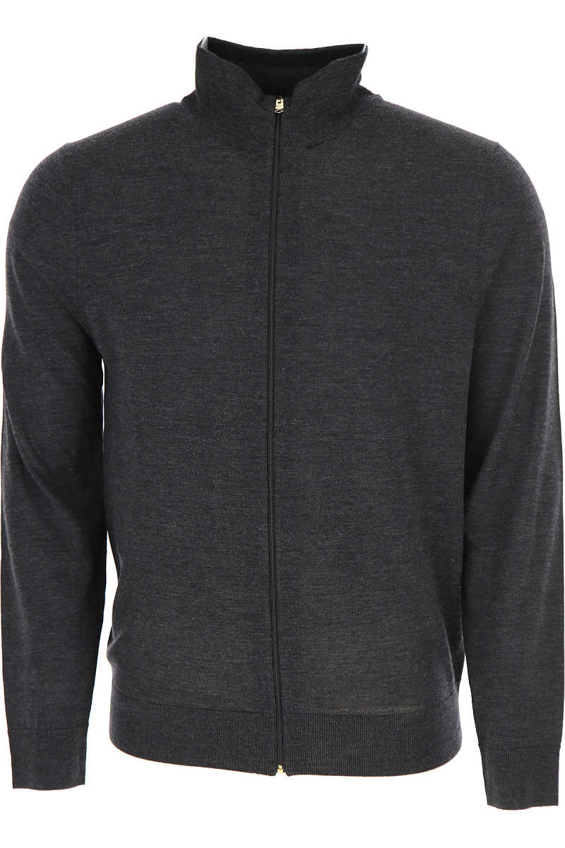 Paul Smith Sweater for Men Jumper On Sale Anthracite DK - GOOFASH - Mens SWEATERS