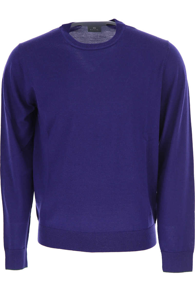 Paul Smith Sweater for Men Jumper On Sale Electric Blue DK - GOOFASH - Mens SWEATERS