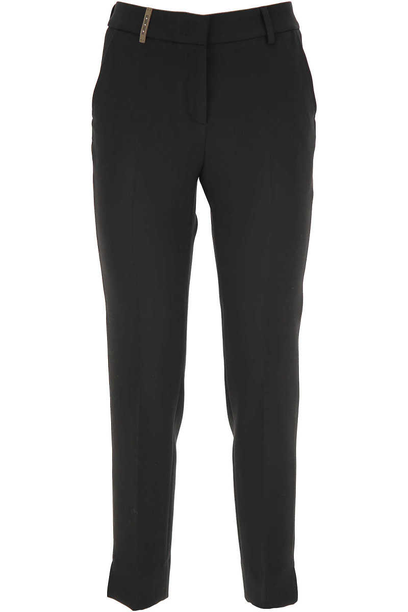 Peserico Pants for Women Black DK - GOOFASH - Womens TROUSERS