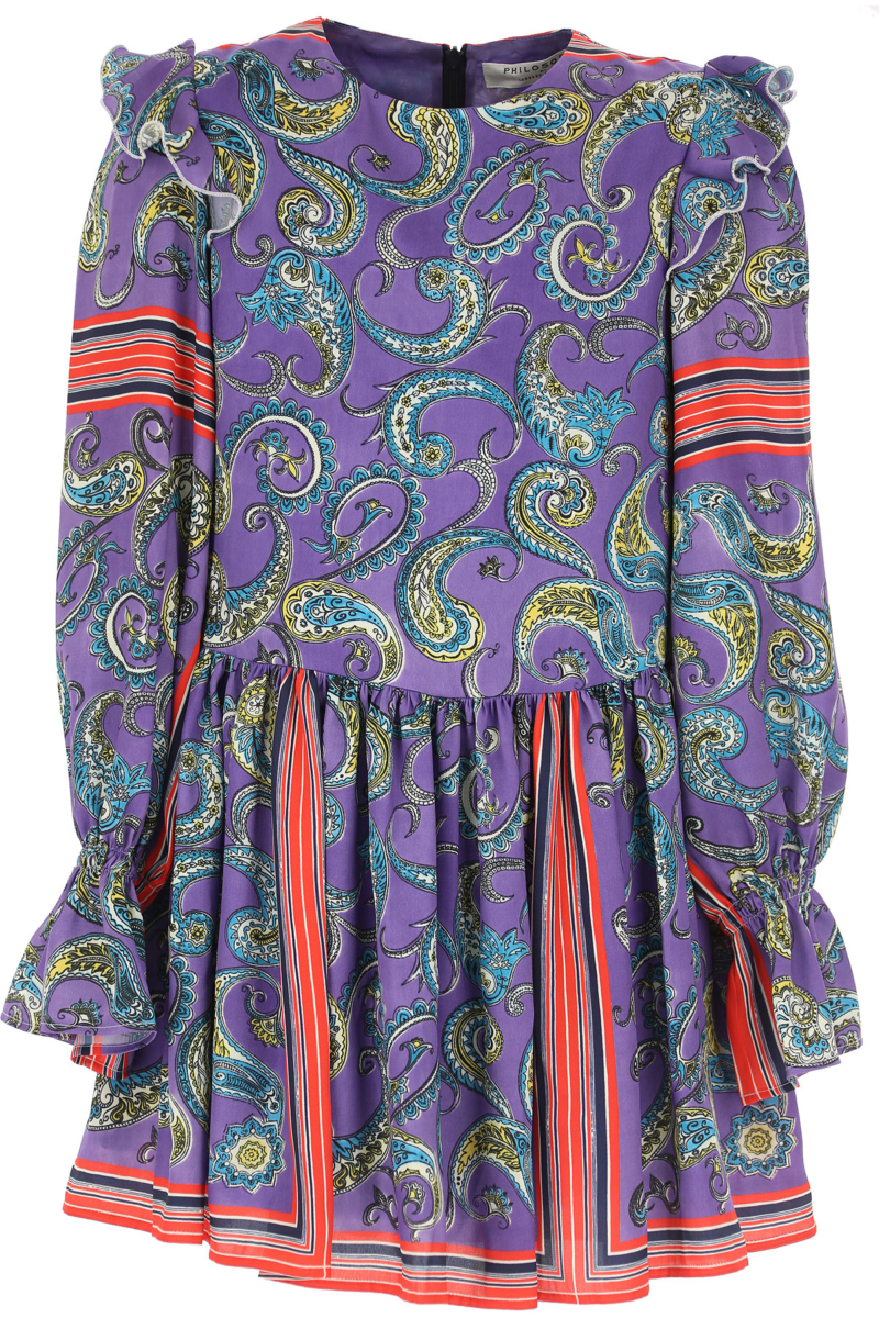 Philosophy di Lorenzo Serafini Girls Dress On Sale Violet DK - GOOFASH - Womens DRESSES