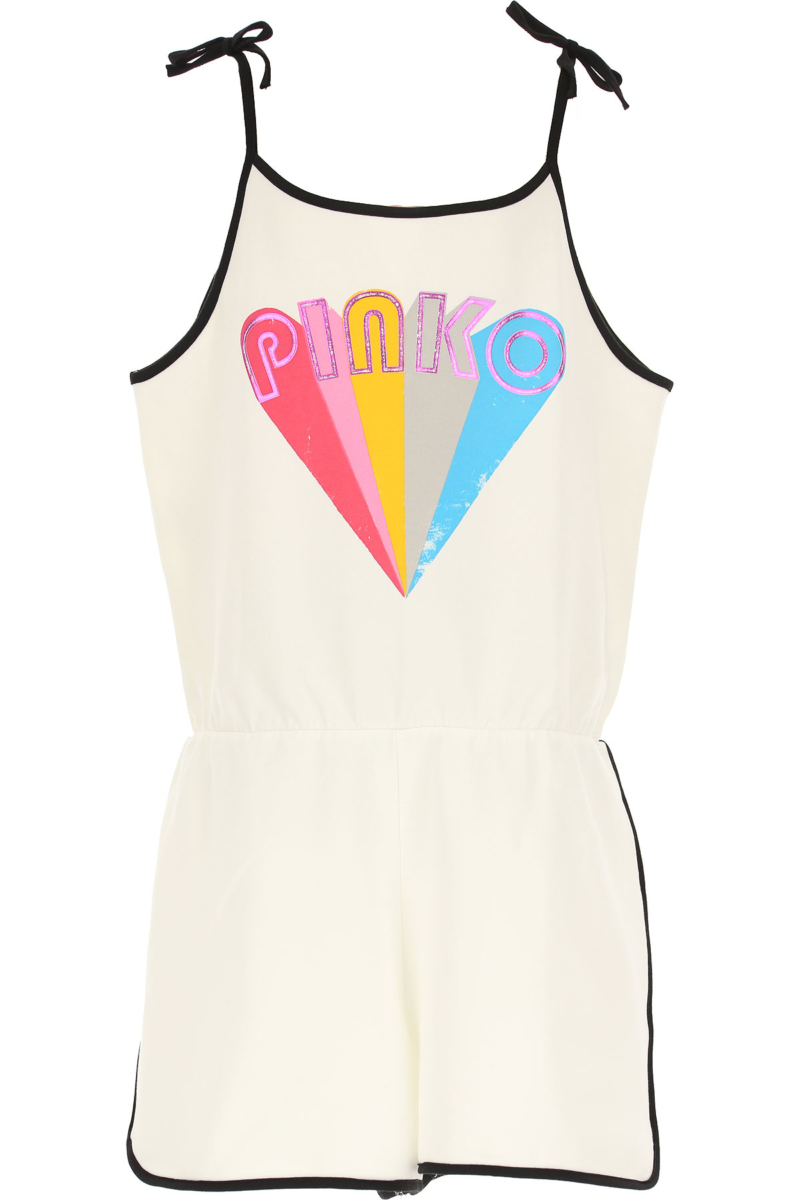 Pinko Girls Dress On Sale White DK - GOOFASH - Womens DRESSES