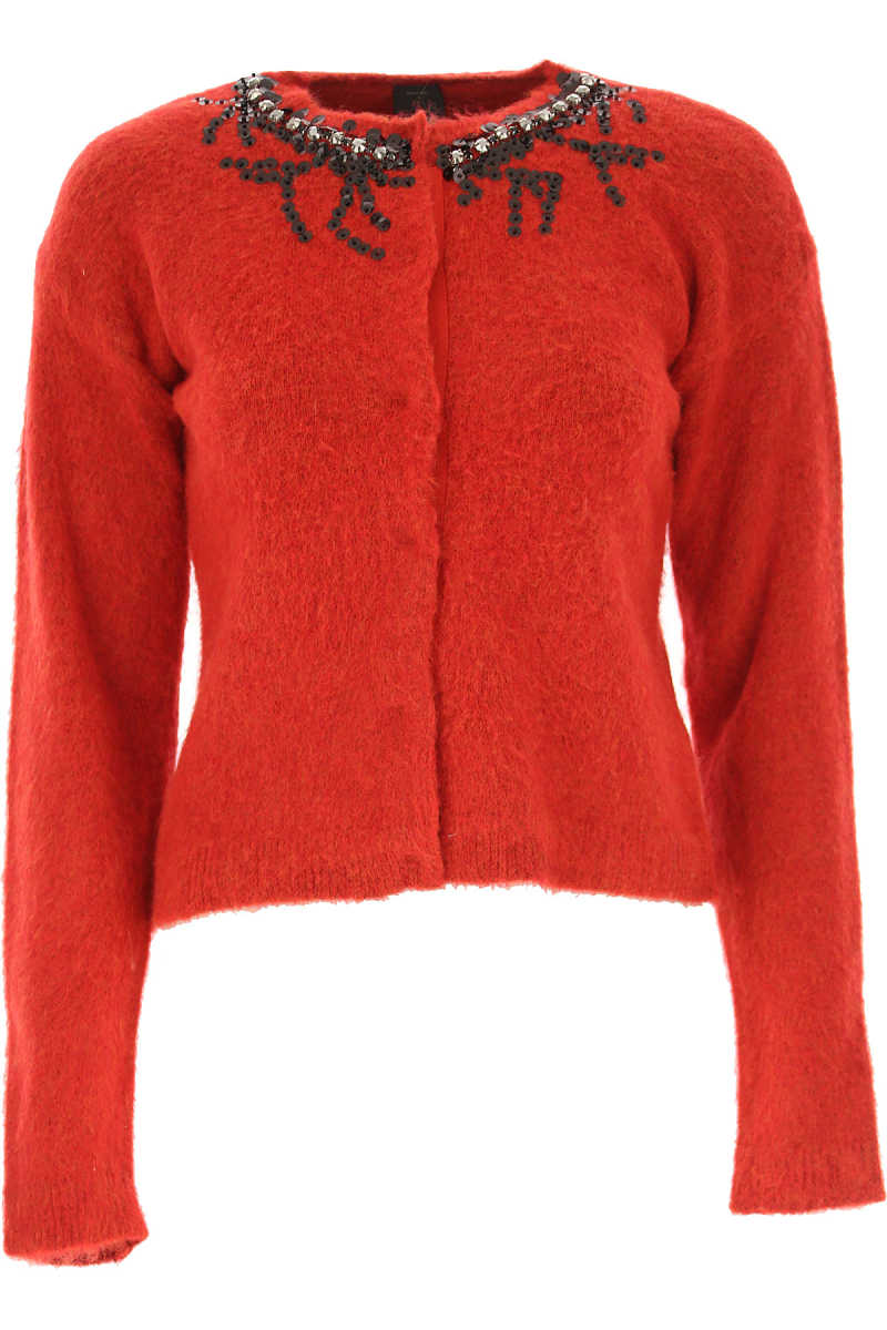 Pinko Sweater for Women Jumper On Sale Bright Red DK - GOOFASH - Womens SWEATERS