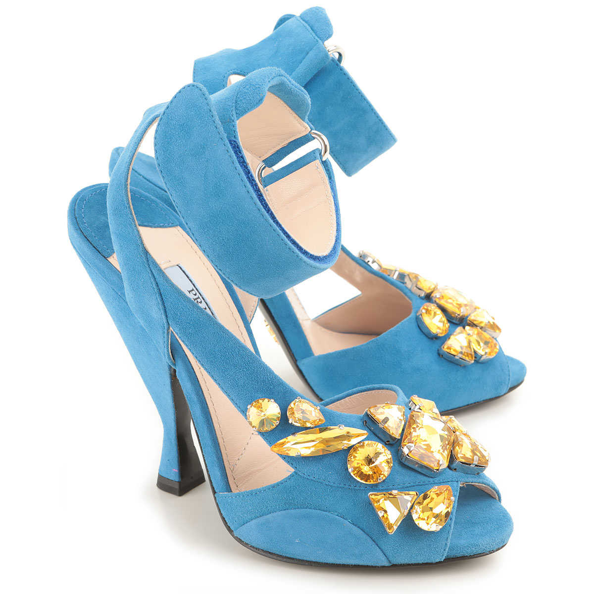 Prada Sandals for Women On Sale in Outlet Skyblue DK - GOOFASH - Womens SANDALS
