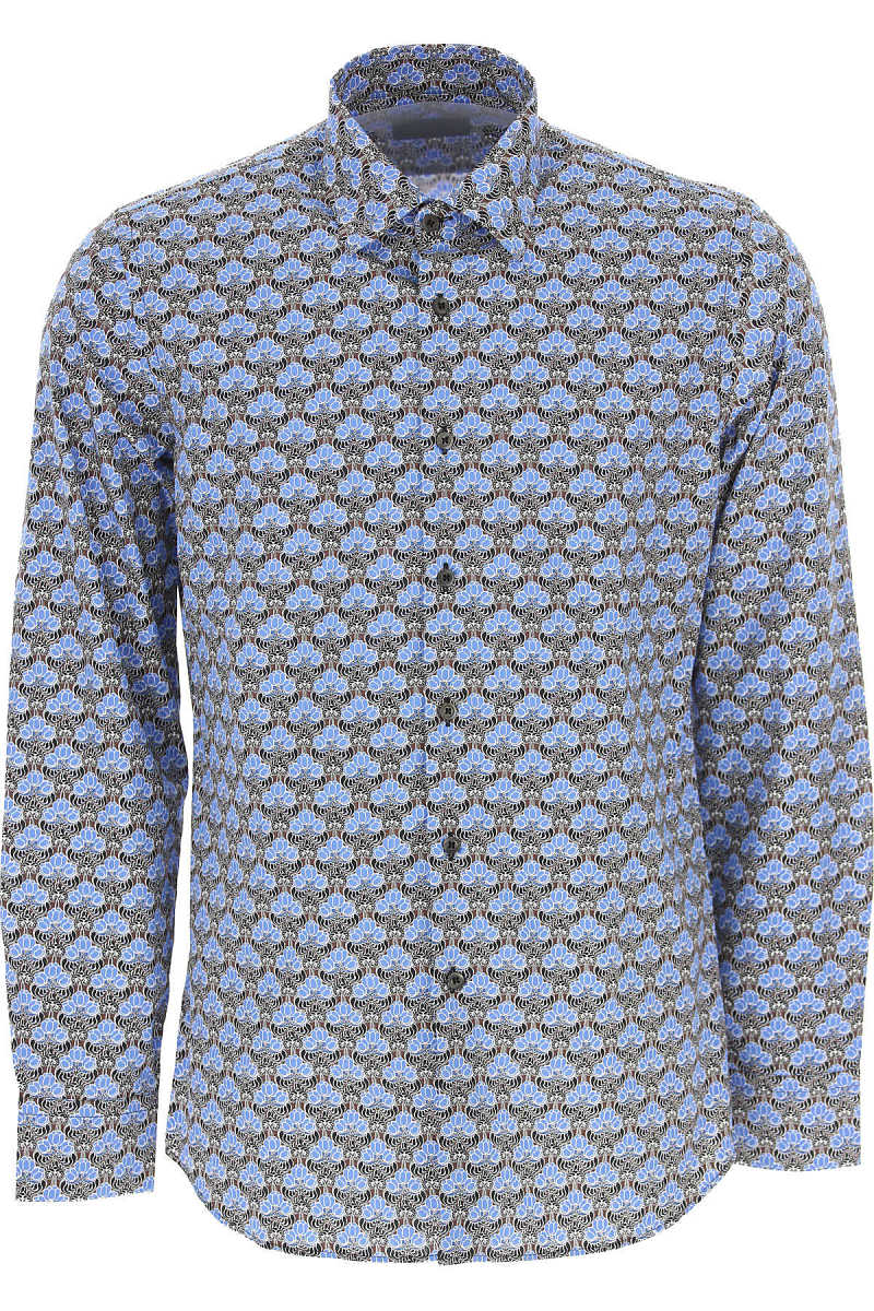 Prada Shirt for Men On Sale in Outlet Bluette DK - GOOFASH - Mens SHIRTS