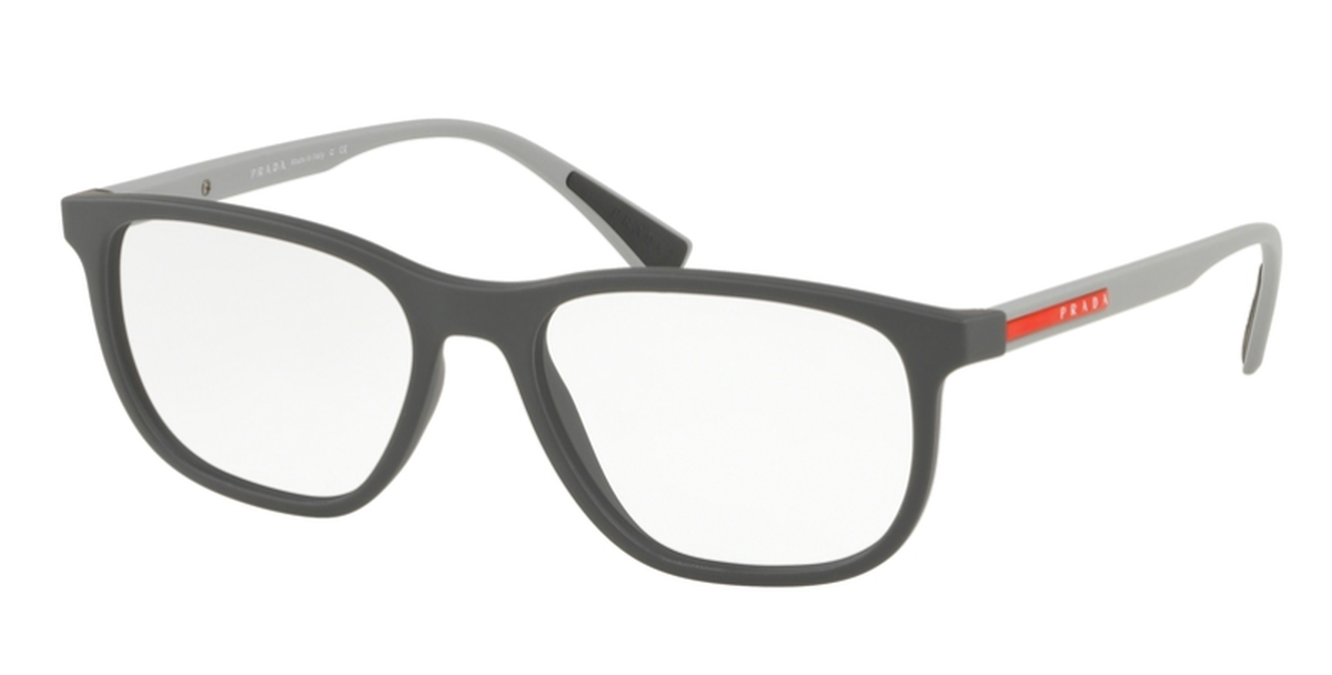 Prada Sport 0PS 05LV Lifestyle Eyeglasses Grey Rubber USA - GOOFASH - Mens SUNGLASSES