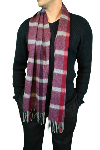 Pure Cashmere Check ScarfRed USA - GOOFASH - Womens SCARFS