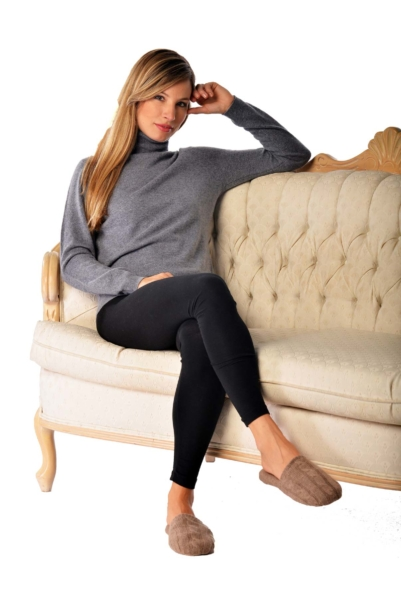 Pure Cashmere Slippers Brown USA - GOOFASH - Womens SLIPPERS