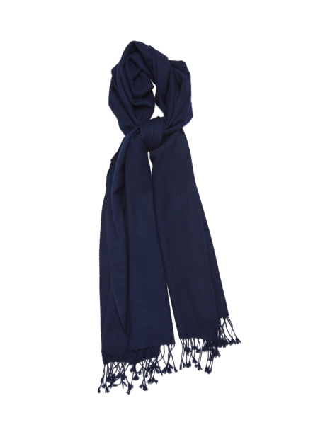 Pure Pashmina Wrap Blue USA - GOOFASH - Womens SCARFS