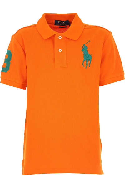 Ralph Lauren Kids Polo Shirt for Boys On Sale Orange DK - GOOFASH - Mens POLOSHIRTS