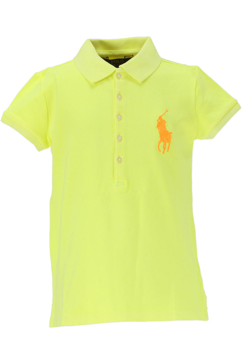 Ralph Lauren Kids Polo Shirt for Girls On Sale in Outlet Neon Yellow DK - GOOFASH - Womens SHIRTS