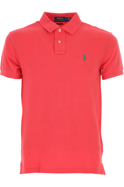 Ralph Lauren Polo Shirt for Men On Sale Bright Red DK - GOOFASH - Mens POLOSHIRTS