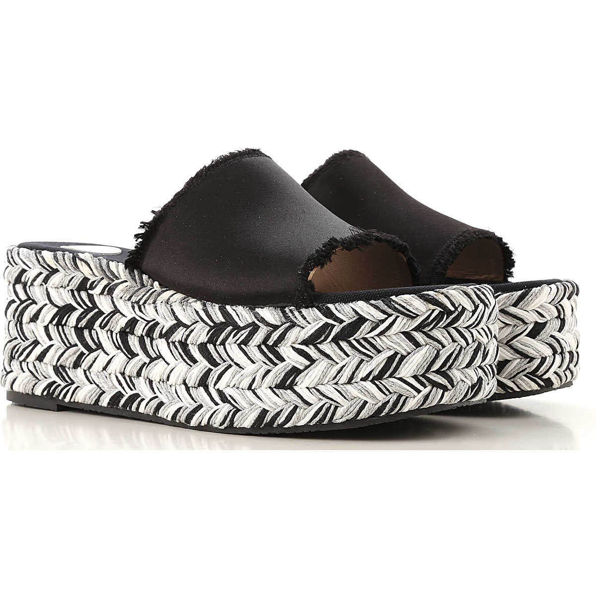 Ras Wedges for Women On Sale Black DK - GOOFASH - Womens HOUSE SHOES