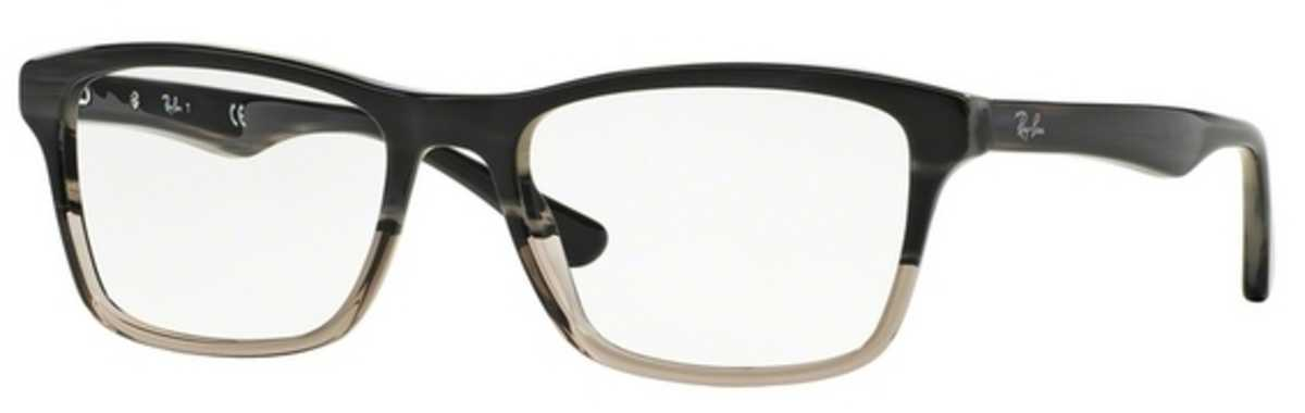 Ray Ban Glasses RX 5279 Eyeglasses Grey Horn Grad Trasp Grey USA - GOOFASH - Mens SUNGLASSES