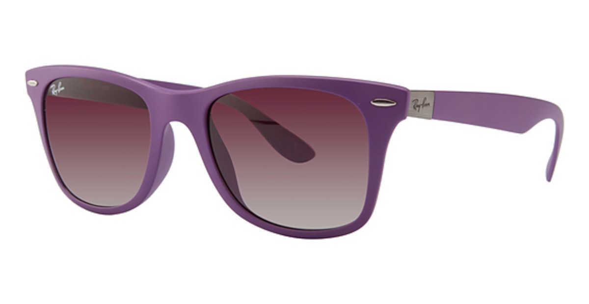 Ray Ban RB 4195F Sunglasses Metallic Violet USA - GOOFASH - Mens SUNGLASSES