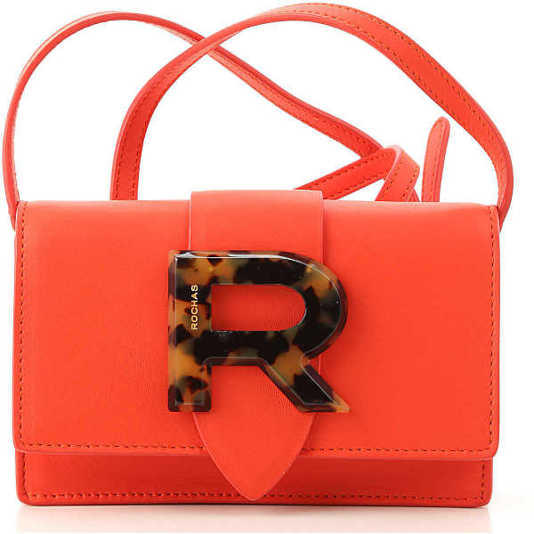 Rochas Shoulder Bag for Women On Sale coral red DK - GOOFASH - Womens BAGS