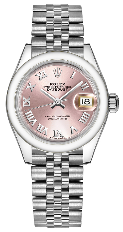 Rolex Lady-Datejust 28 Pink Dial Watch 279160 Pink USA - GOOFASH - Womens WATCHES