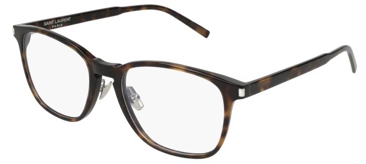 Saint Laurent SL 186 SLIM Eyeglasses Avana-Avana-Transparent USA - GOOFASH - Mens SUNGLASSES