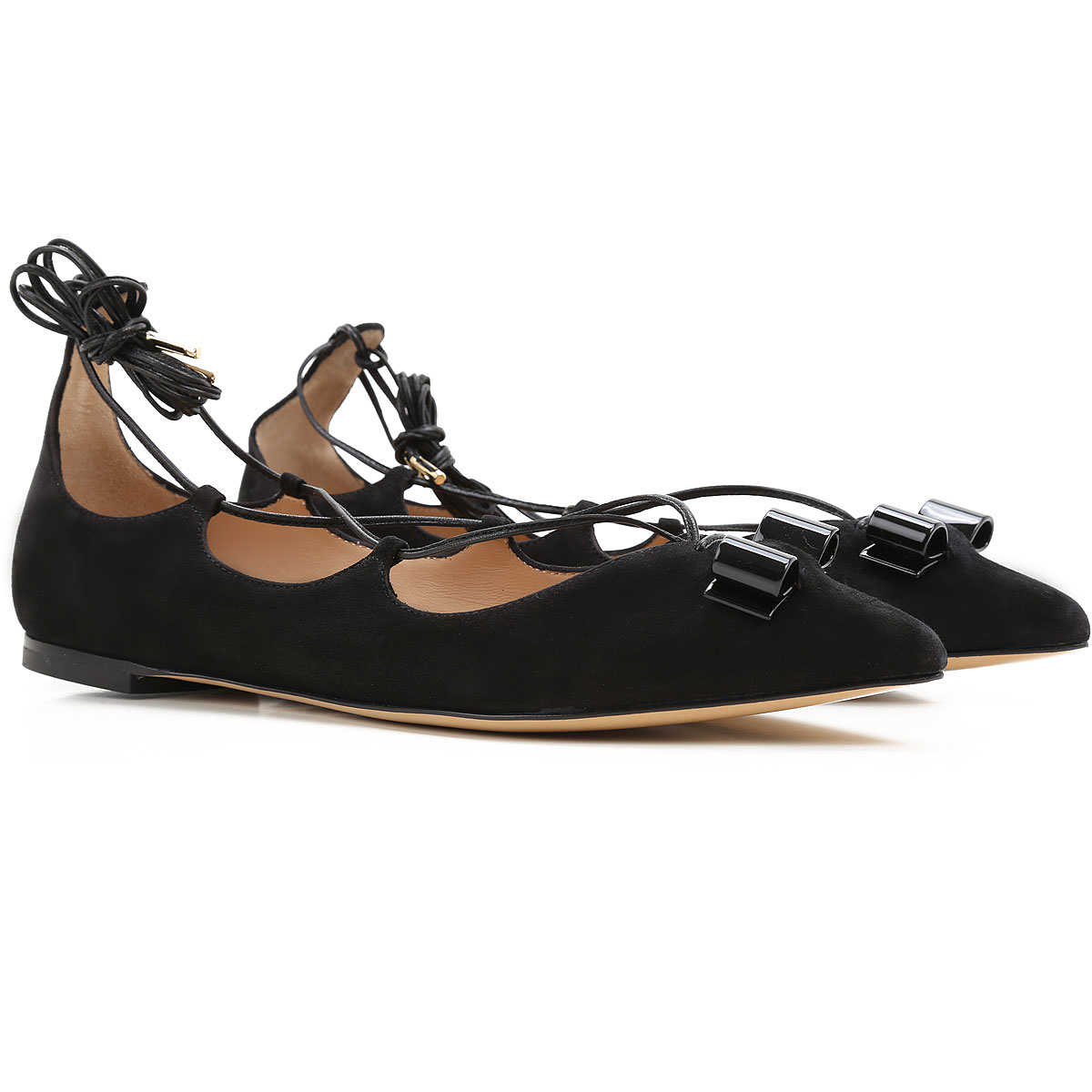 Salvatore Ferragamo Ballet Flats Ballerina Shoes for Women On Sale in Outlet Black DK - GOOFASH - Womens BALLERINAS