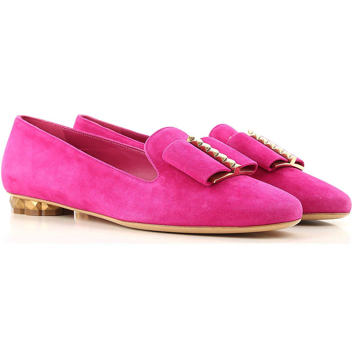 Salvatore Ferragamo Loafers for Women Cerise Purple DK - GOOFASH - Womens FLAT SHOES
