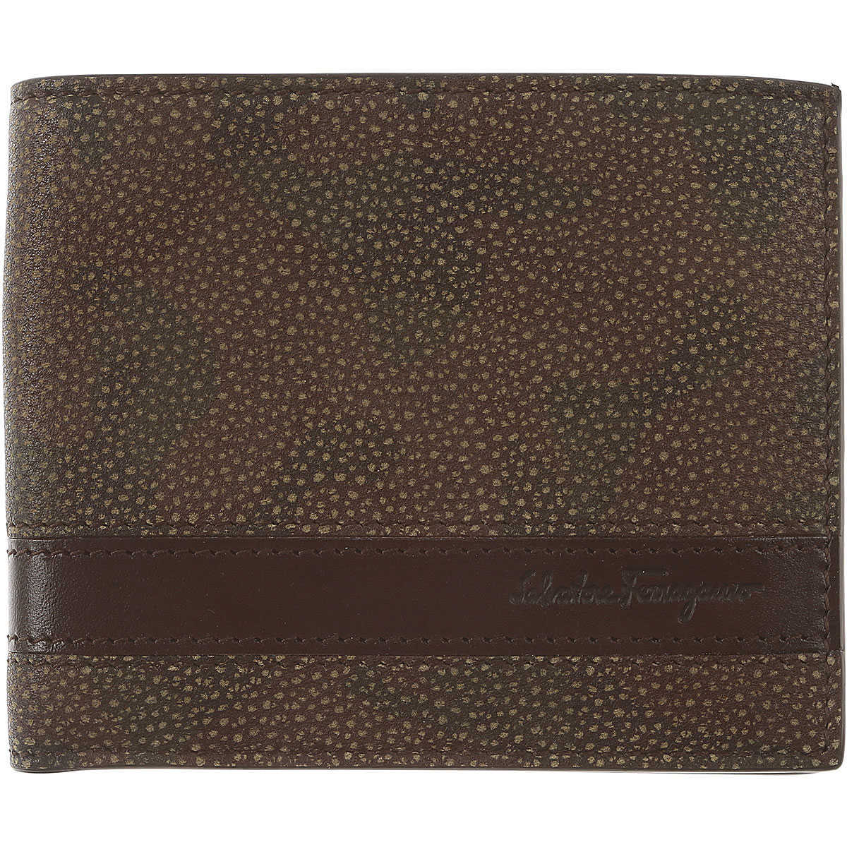 Salvatore Ferragamo Mens Wallets On Sale in Outlet Brown DK - GOOFASH - Mens WALLETS