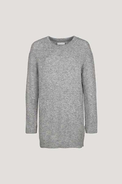 Samsoe & Samsoe Nor O-n Dress - Grey Mel. DK - GOOFASH - Womens DRESSES