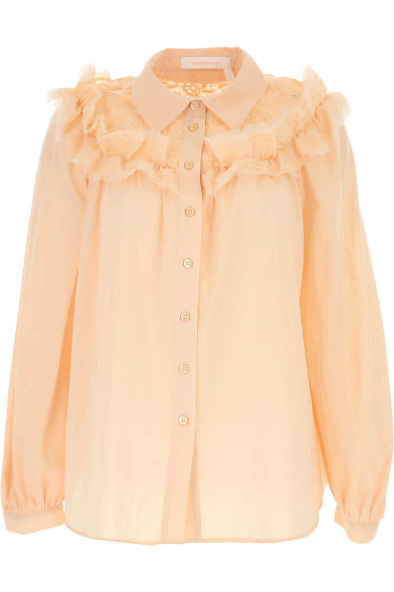 See By Chloe Shirt for Women On Sale Nude Pink DK - GOOFASH - Womens SHIRTS
