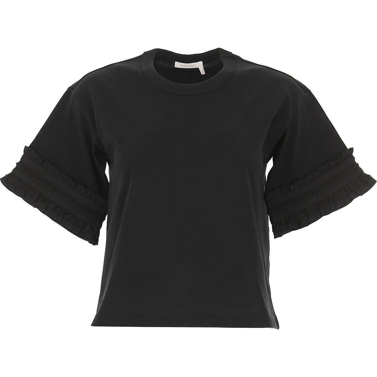 See By Chloe T-Shirt for Women On Sale Black DK - GOOFASH - Womens T-SHIRTS