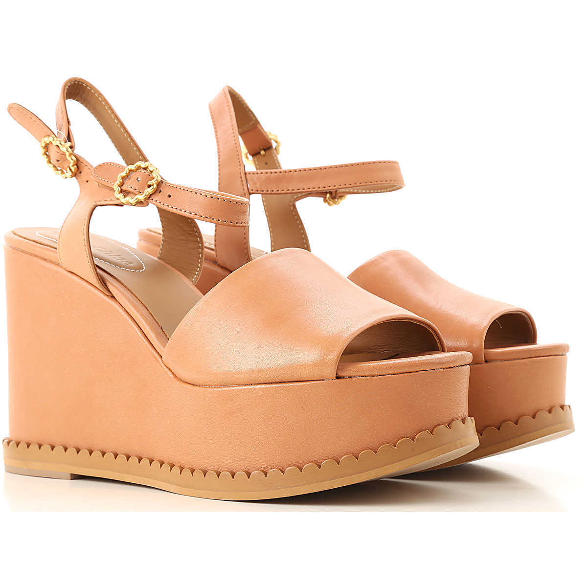 See By Chloe Wedges for Women On Sale Camel DK - GOOFASH - Womens HOUSE SHOES