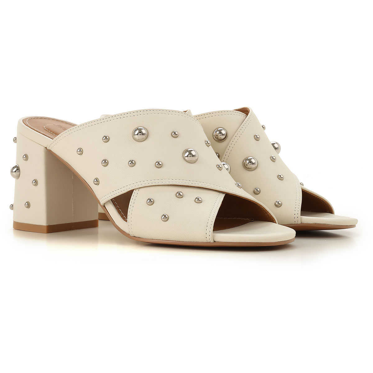 See By Chloe Wedges for Women On Sale Chalk DK - GOOFASH - Womens HOUSE SHOES