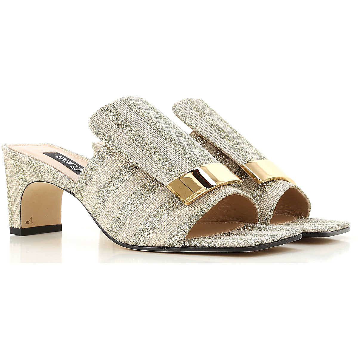 Sergio Rossi Sandals for Women On Sale Gold DK - GOOFASH - Womens SANDALS