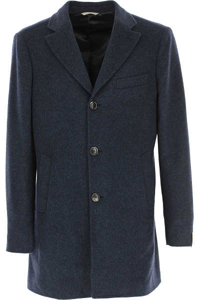 Simbols Men's Coat Midnight Blue DK - GOOFASH - Mens COATS