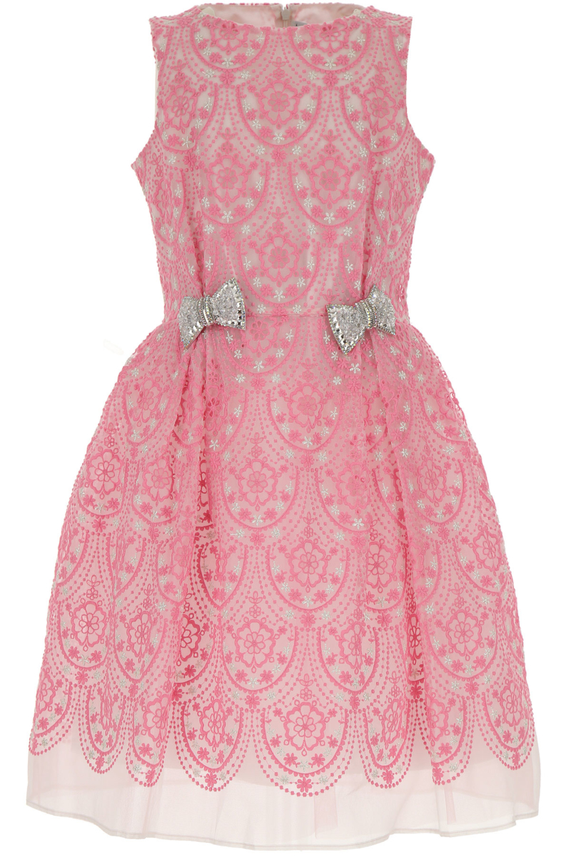 Simonetta Girls Dress On Sale Pink DK - GOOFASH - Womens DRESSES