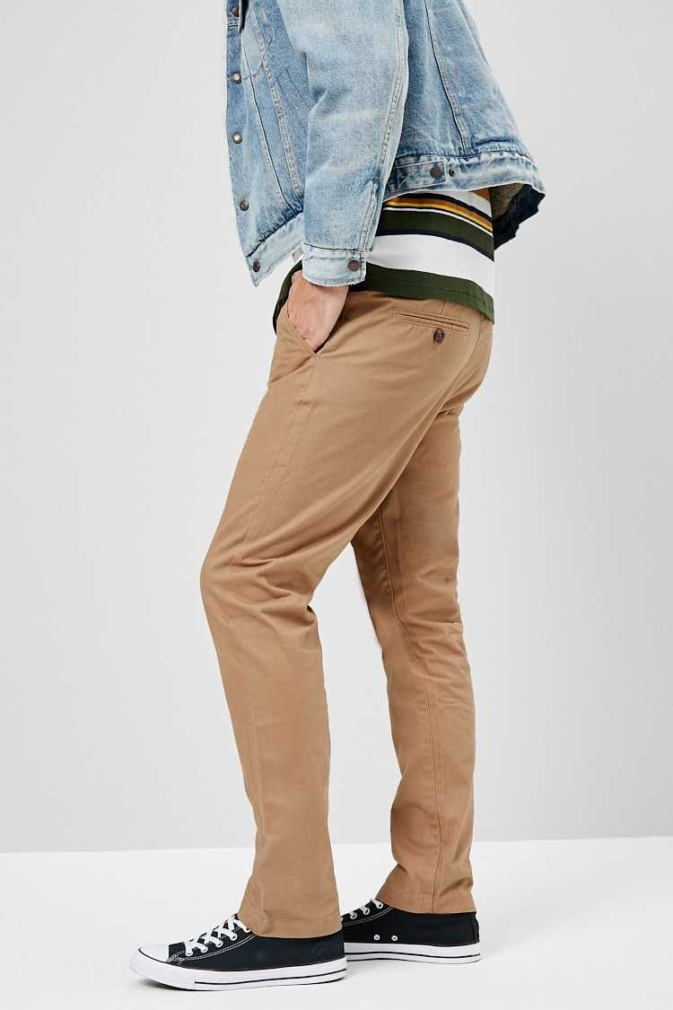 Slim Cotton Chinos at Forever 21
