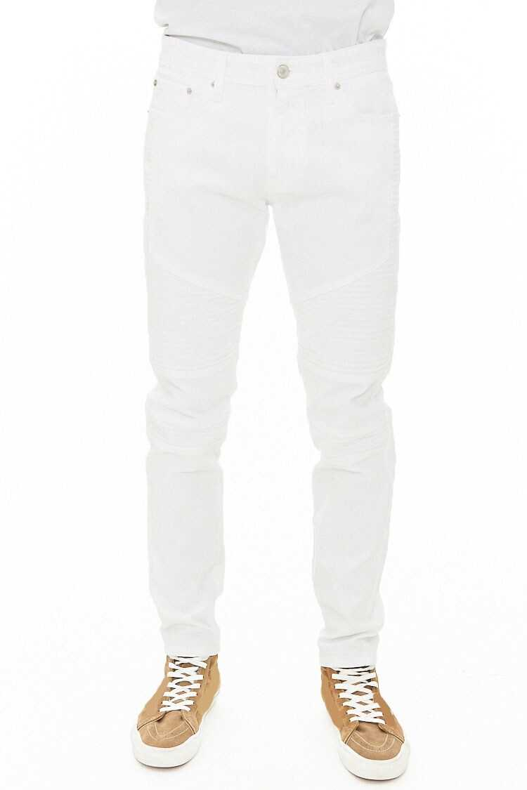 Slim-Fit Moto Jeans at Forever 21
