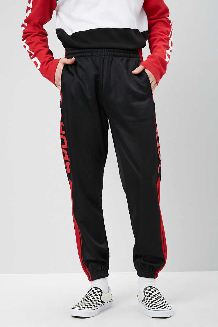 Sport Graphic Fleece Joggers at Forever 21