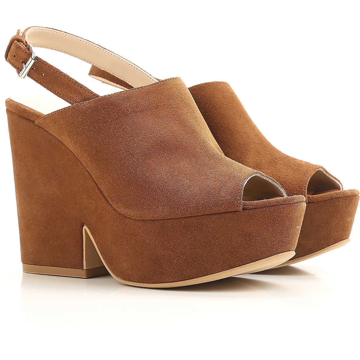 Strategia Wedges for Women On Sale in Outlet Tobacco DK - GOOFASH - Womens HOUSE SHOES