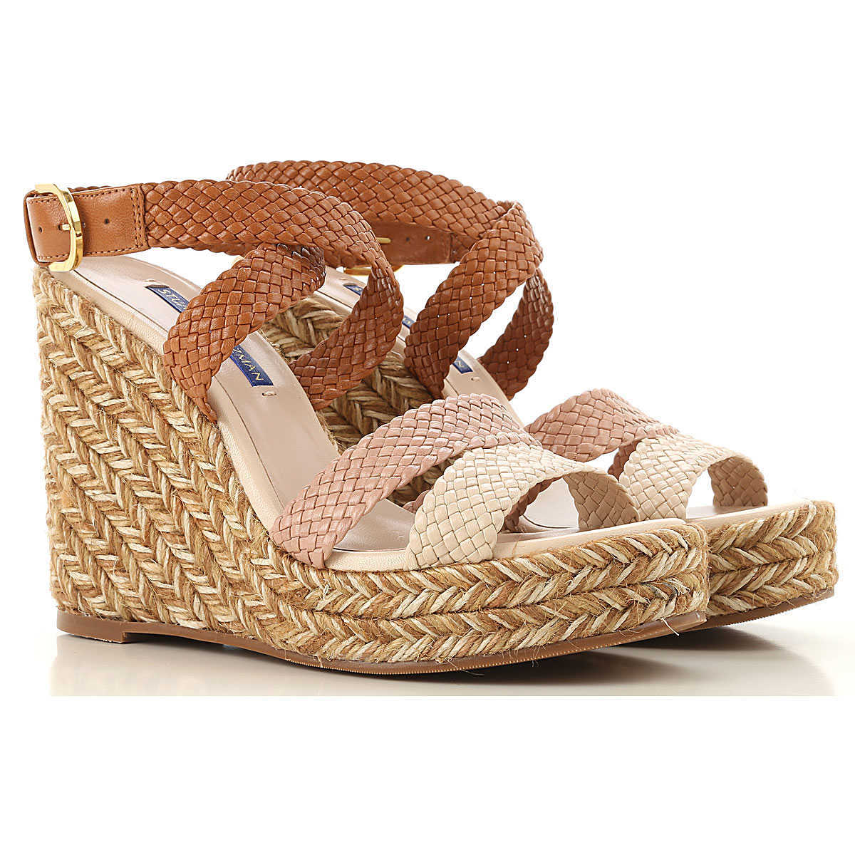 Stuart Weitzman Wedges for Women On Sale Beige DK - GOOFASH - Womens HOUSE SHOES